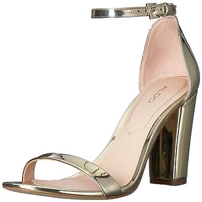 34e4d2ff23c0 ALDO Women s MYLY Heeled Sandal Gold 10 ...