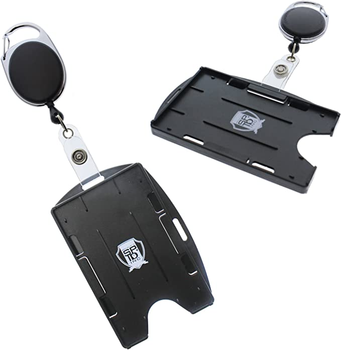ID Retractable Badge Holder Reel /& Double Sided Id Card Badge Holder Free P/&P