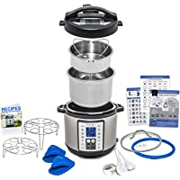 Multi-Use Programmable Pressure Cooker, 6 Quart, with Recipes and Deluxe Accessory Kit by Yedi Houseware
