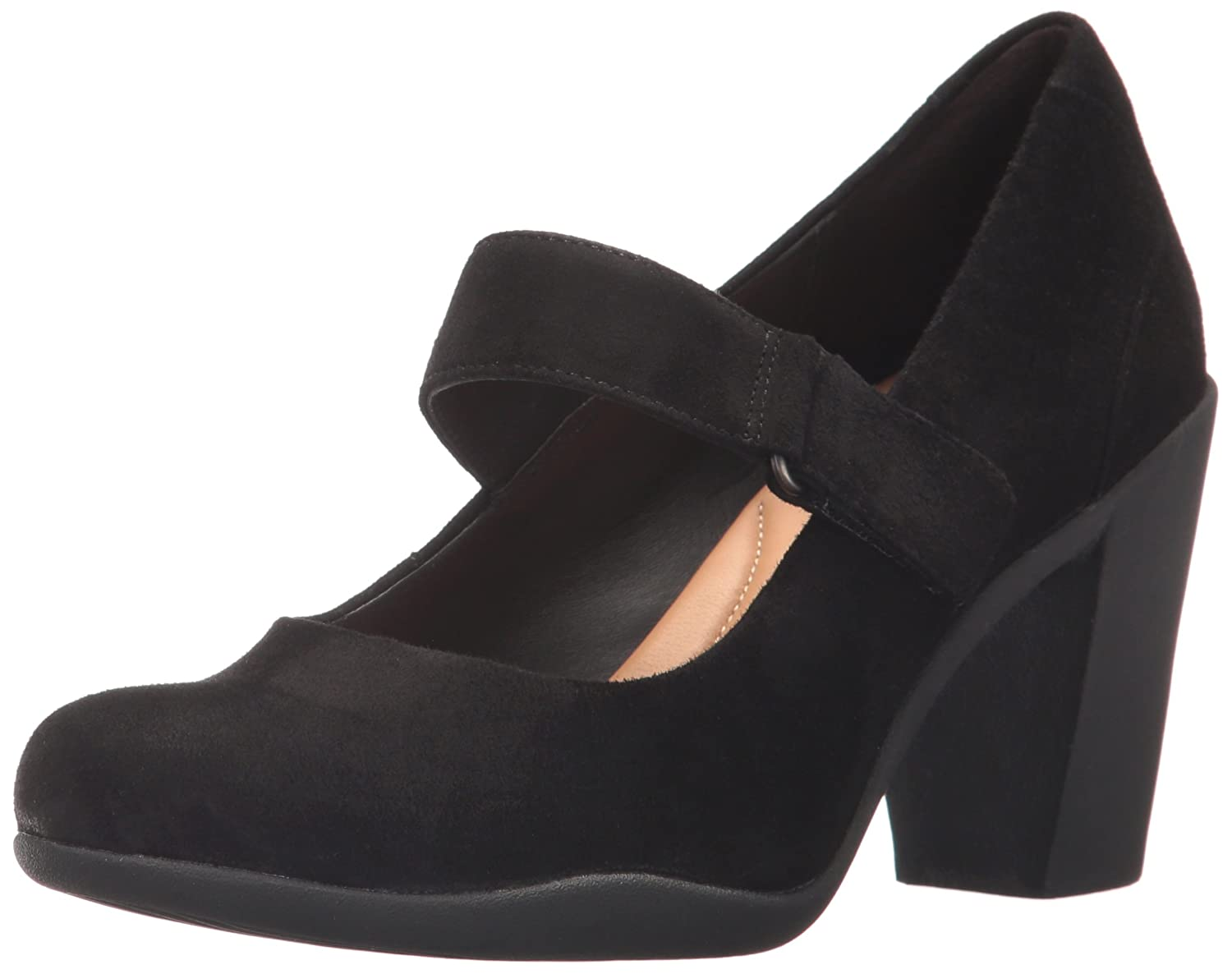 CLARKS Women's Adya Clara Dress Pump B01NCO2C0P 6 B(M) US|Black Suede