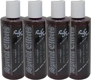 SPECIAL EFFECTS Semipermanente vegano tinte de pelo paquete de 4 4 onzas Red Apple de caramelo
