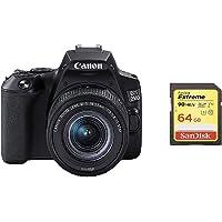 EOS 250D Body + Canon EF-S 18-55mm f/4-5.6 IS STM Lens - Black + Sandisk 64G Memory Card