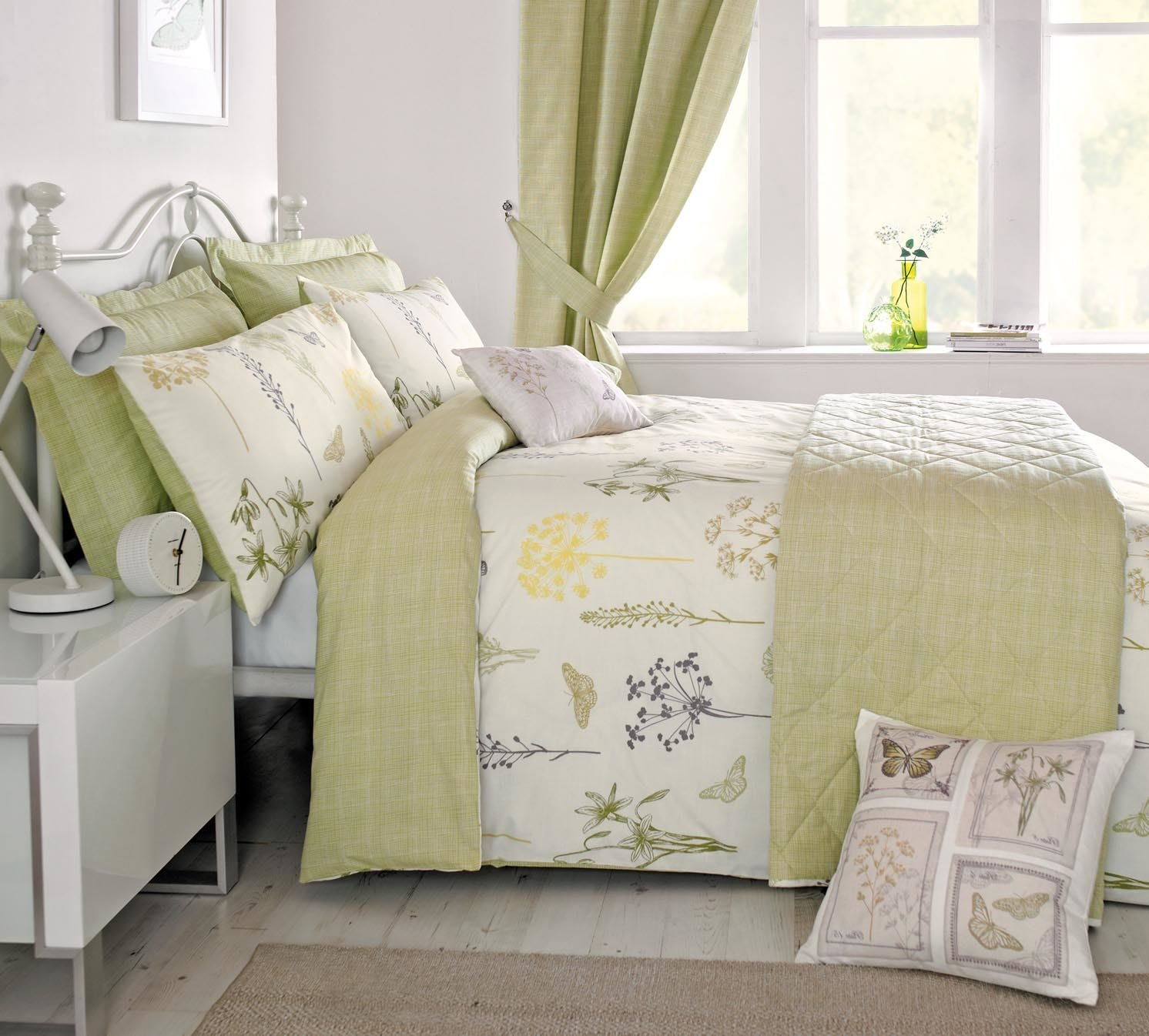 dreams u0027nu0027 drapes botanique vintage floral duvet cover set green single amazoncouk kitchen u0026 home