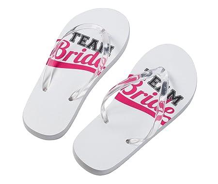 807d38b45049de Lillian Rose FF672 MT Medium White Black Pink Team Bride Flip Flops Medium   Amazon.co.uk  Kitchen   Home