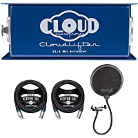 Cloud Microphones CL-1 Cloudlifter 1 Channel Mic Activator for Dynamic/Ribbon/Tube Microphone Bundle with Blucoil 2-Pack…