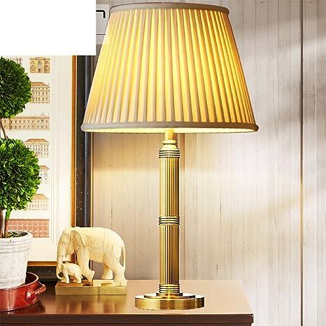 Amazon.com: Lámpara de mesa de salón, American, Bronce ...