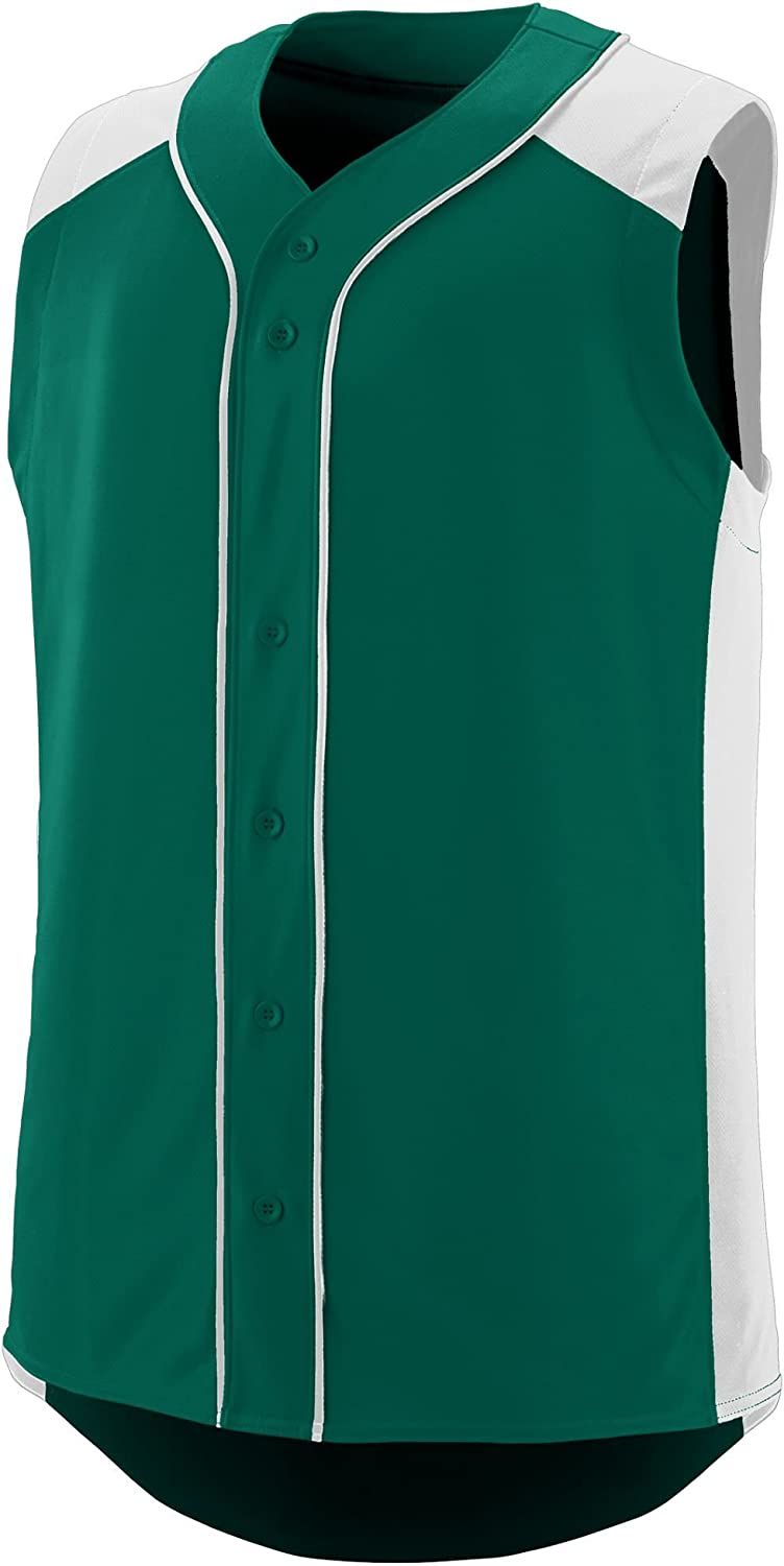 Augusta Sportswear Boys' Sleeveless Slugger Baseball Jersey M Dark Green/White