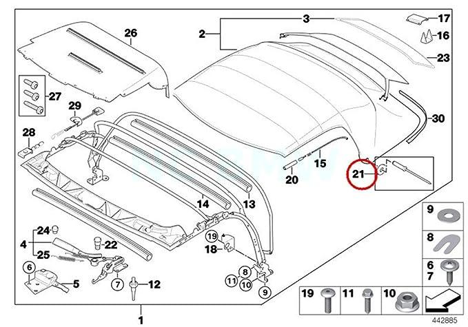 Amazon Com Bmw Genuine Rep Kit F Rivetsfolding Top Mount Parts