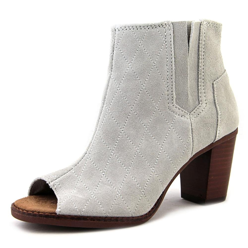 TOMS Women's Majorca Peep Toe Bootie High Rise Grey Casual Shoe 9 Women US