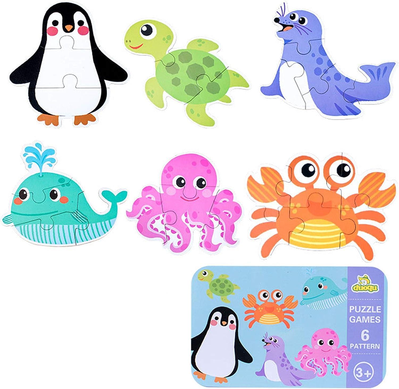SGDD Puzzles de Madera, Juguetes Bebes, Animales Rompecabezas, Puzzles de Madera Educativos para Bebé, Juguetes niños 1 año 2 3 4 5 6 años