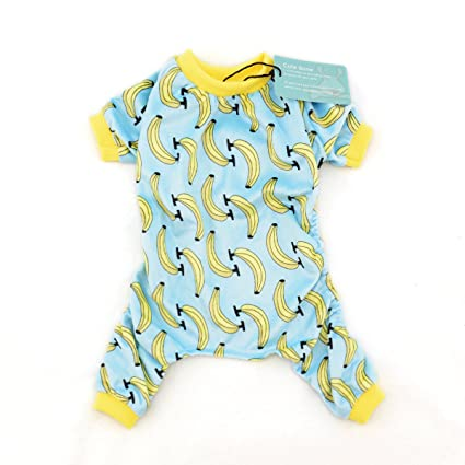 CuteBone Dog Pajamas Banana Dog Apparel Dog Jumpsuit Pet Clothes Pajamas P06(S)