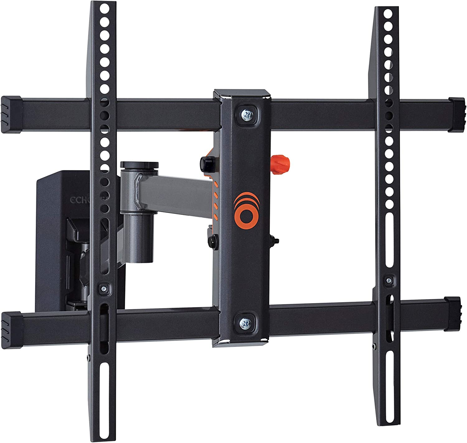 "ECHOGEAR Full Motion TV Wall Mount for TVs Up to 58"" - Smooth Extention, Swivel, Tilt - Wall Template for Easy Install On 1 Stud - After Install Level & Hide Cables with Built-in Cable Management"