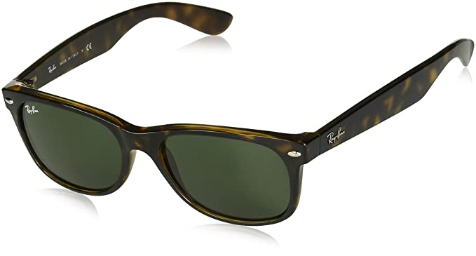 a99cdef1d Image Unavailable. Image not available for. Color: Ray-Ban RB2132 New  Wayfarer Sunglasses Unisex (Tortoise Frame Solid Brown ...