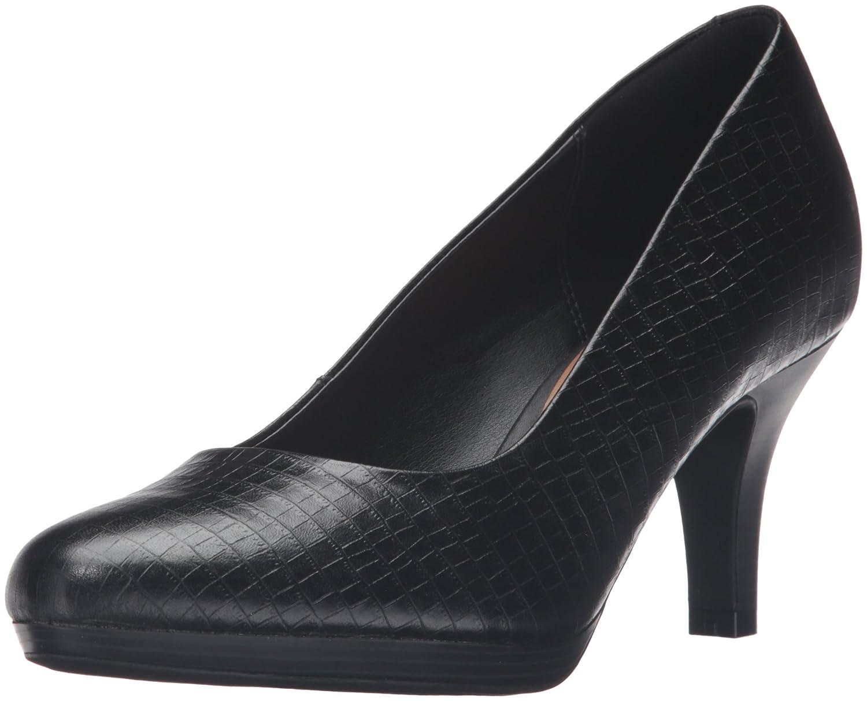 CLARKS Women's Brenna Maple Dress Pump B0195PI33Q 9 B(M) US|Black Crocodile Patent