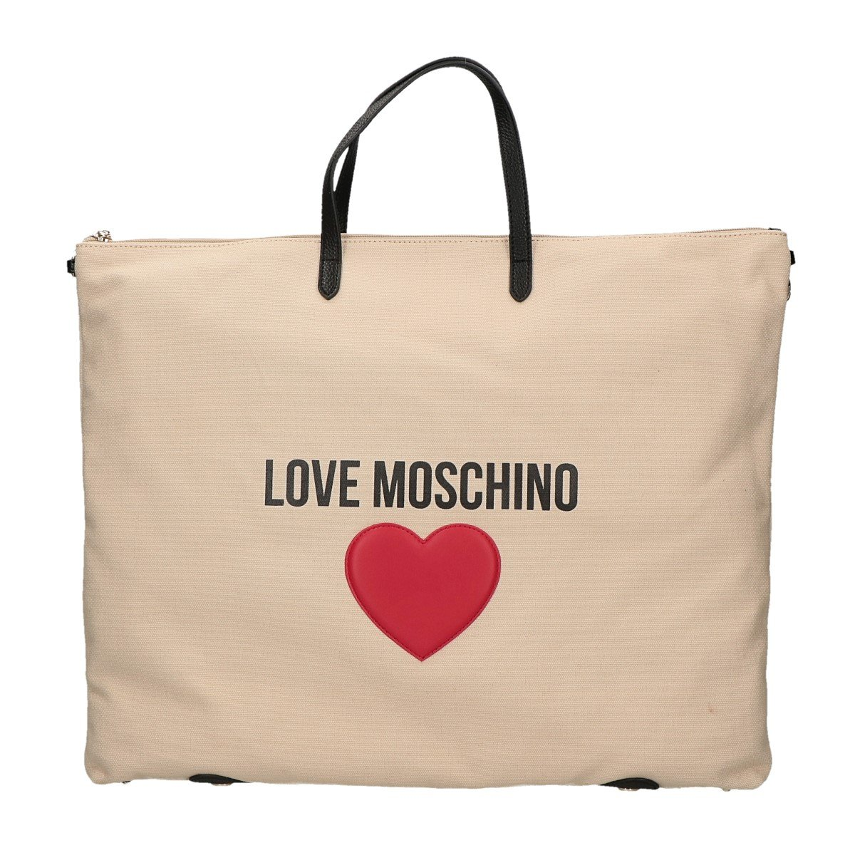 LOVE Moschino Women's Love Moschino & Heart Canvas Backpack Fantasy Print Ivory One Size