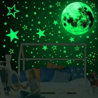 Home-Mart 3D Glow in The Dark Stickers, 435pcs Luminous Dots Stars and Moon DIY Wall Stickers for Ceiling Or Walls, Glow…
