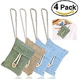 NUOLUX Natural Air Purifying Bamboo Charcoal Bag Air Freshener (4packs*100g)