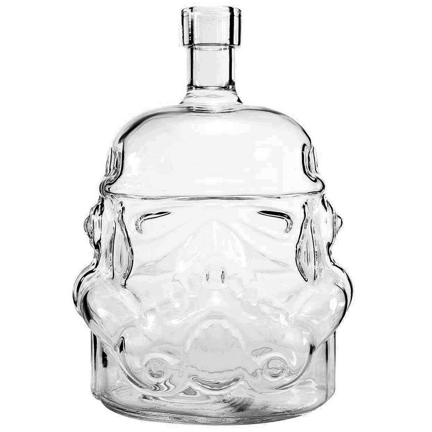 AUTHOME Transparent Creative Star Wars 700ml Whiskey Flask Carafe Decanter,Stormtrooper Glass Bottle ,Wine Decanters,Whiskey Carafe,Awakens Helmet Glass Cup Heat-Resistance Cup for Whisky, Beer, Brand