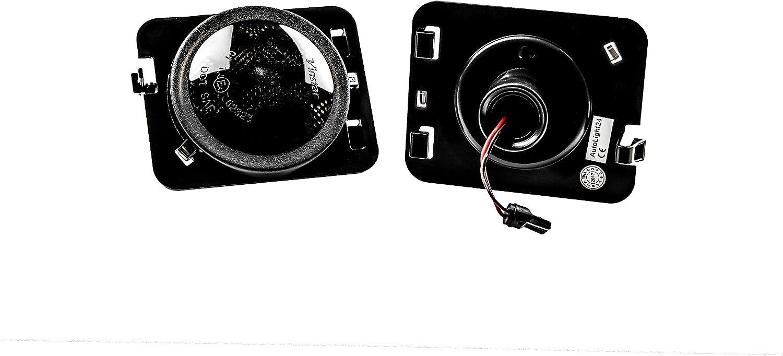 AUTOLIGHT 24 LED Seitenblinker Kotfl/ügel Blinker Smoke f/ür Wrangler JK SB4
