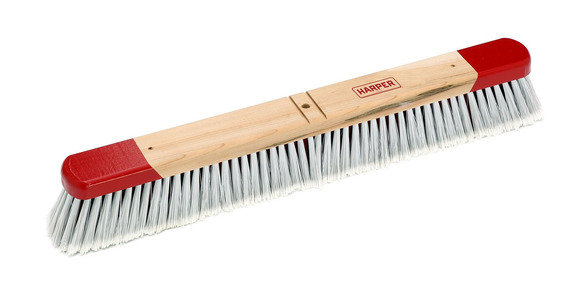Harper Brush 352412 Broom Head, Polystyrene Fiber, All Purpose, Semi Rough Surface, Maple, 24'' (Pack of 12)