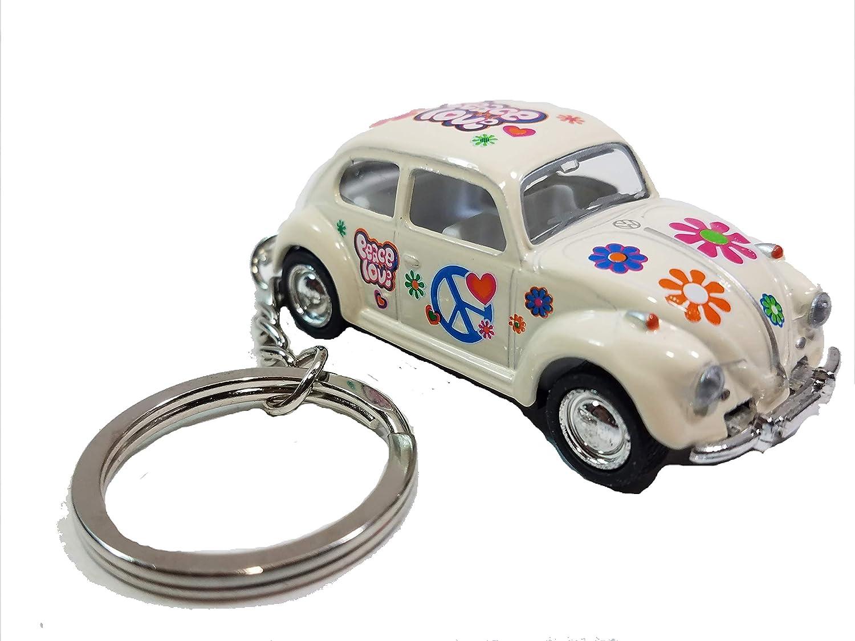 Amazon.com: Kinsmart Color Blanco Classic Love & Peace VW ...
