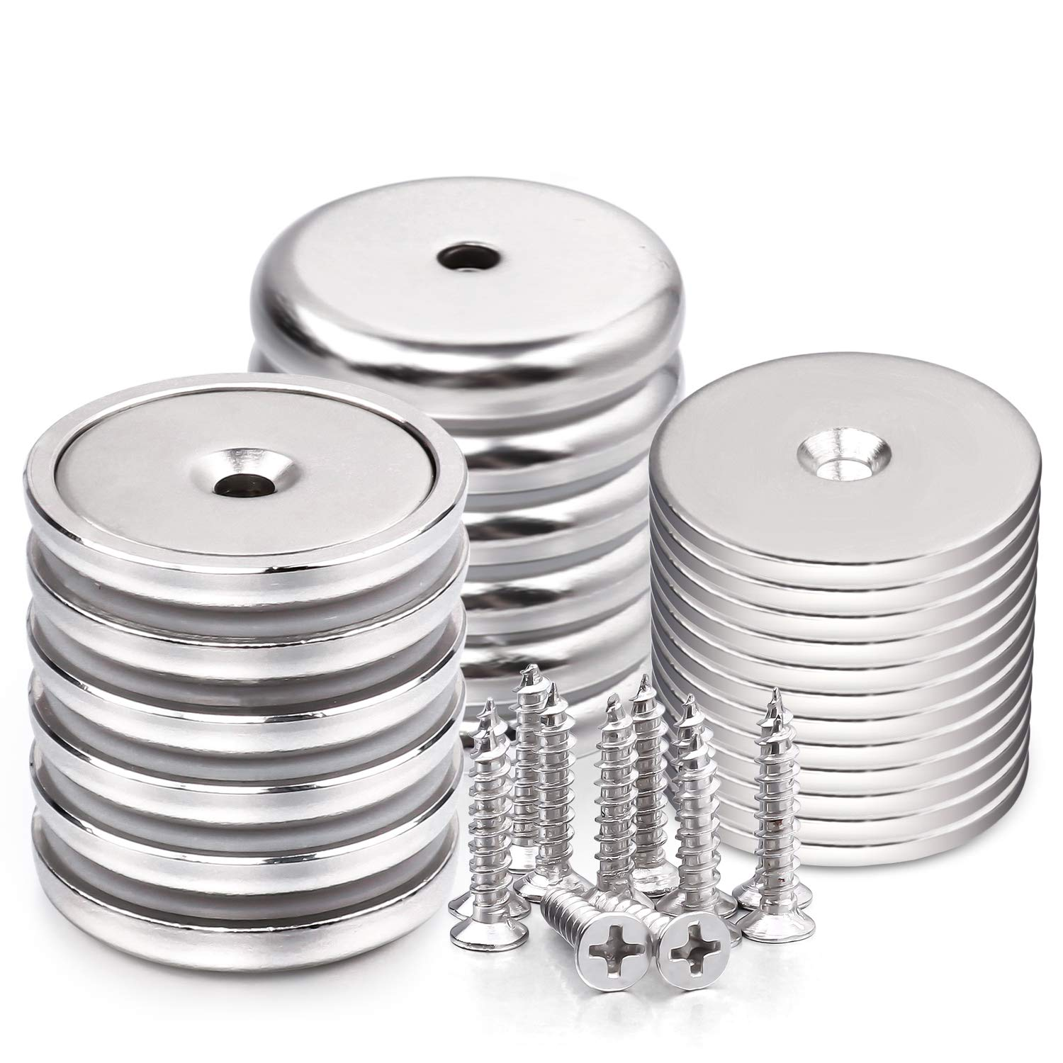 LOVIMAG Neodymium Cup Magnets with 95 LBS Pull Capacity Each - Dia 1.26