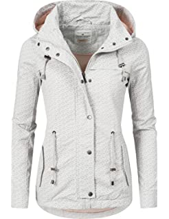 7900a130f1af Urban Surface Damen Übergangs-Jacke leichte Baumwoll-Frühlingsjacke ...
