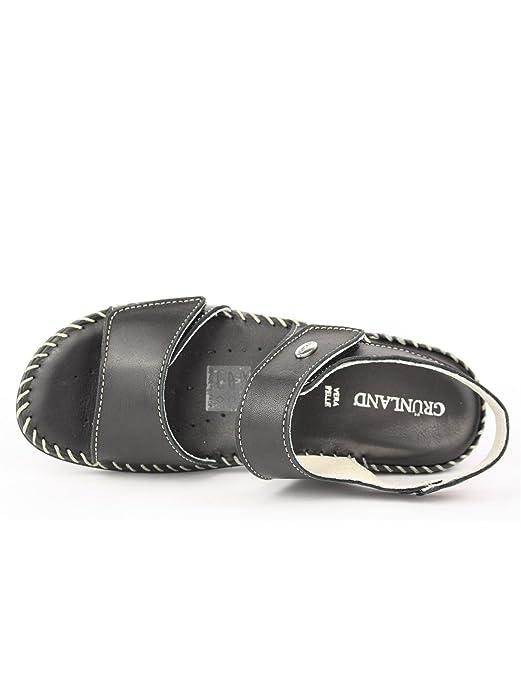 Grunland Sa0896 Coly Sandalo Donna P. Nero 38 j4kIL