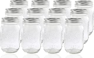 product image for Ball Glass Mason Jar with Lid and Band, Regular Mouth, 12 Jars