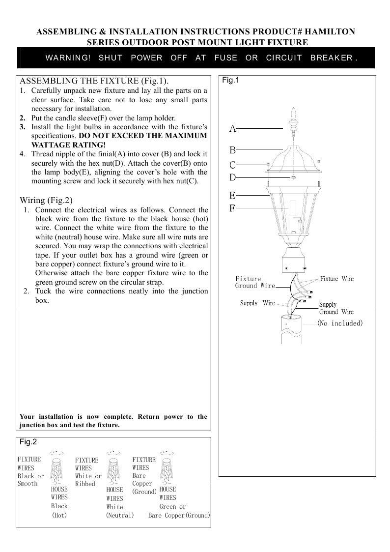 Livex Lighting 7563-04 Hamilton 3 Light Black Cast Aluminum Outdoor Post Head Lantern with Clear Beveled Glass by Livex Lighting (Image #1)