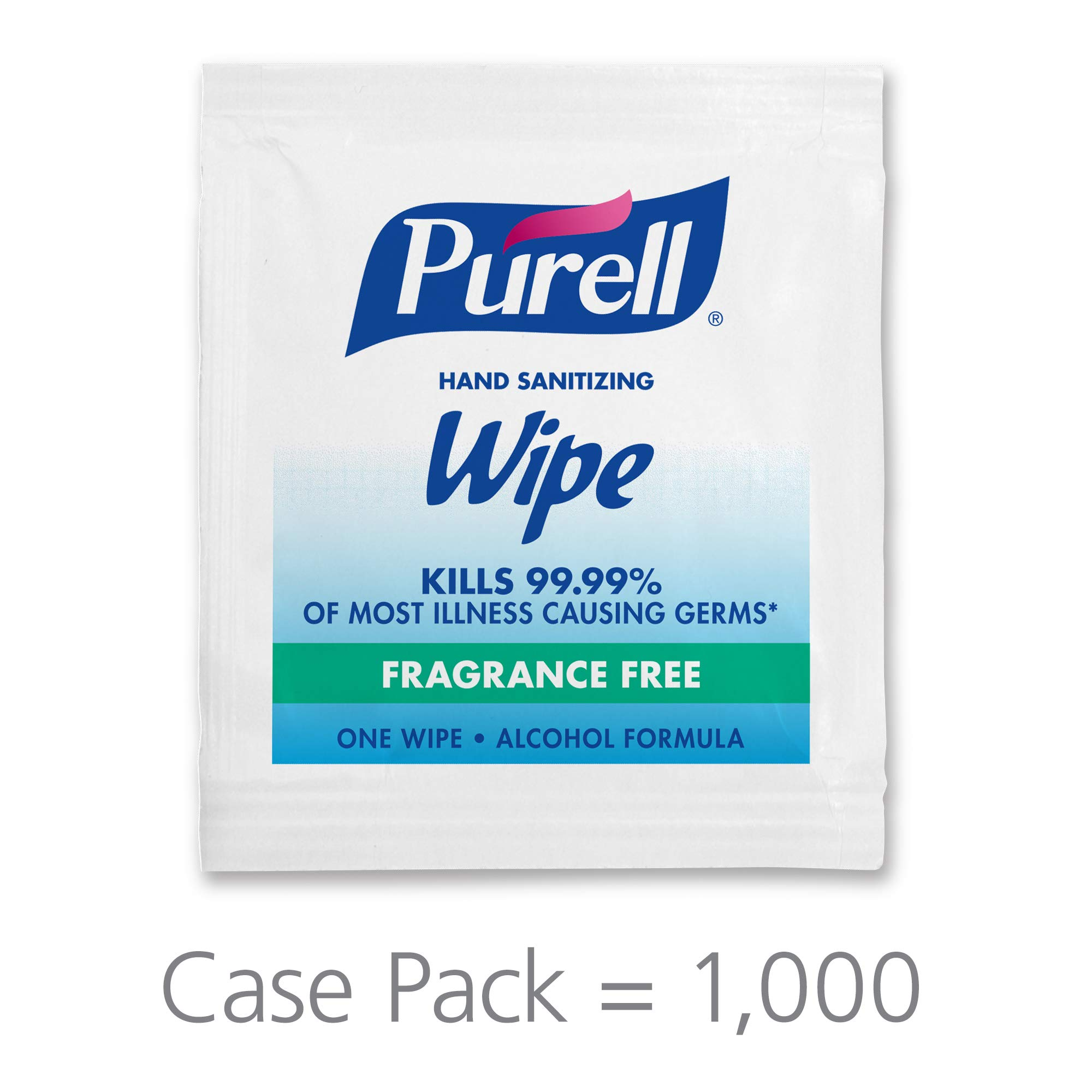 PURELL Hand Sanitizing Wipes Alcohol Formula, Fragrance Free, 1000 Individually Wrapped Hand Sanitizing Wipes Packets - 9021-1M by Purell