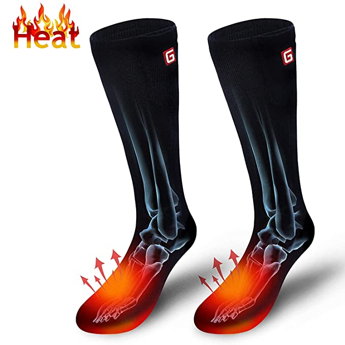 4438caee6dd Men s Heated Hiking Socks for Clod Weather Rechargeable Battery Thermal  Insulated Foot Warmers for Chronically Cold