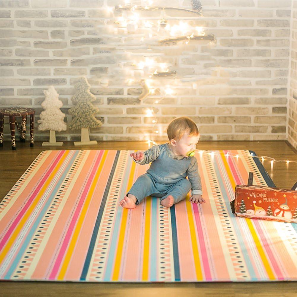 フィギュア赤ちゃんマットをクロール,子供の家の床マット 赤ちゃんのプレイマットを厚く ノンスリップ マット ゲームパッド-C 210x140cm(83x55inch)