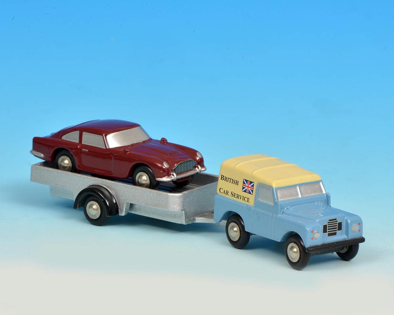 Schuco 450502700 Piccolo Land Rover Bcs Mit Anhänger 450502700 Piccolo Modellauto Modellfahrzeug Mehrfarbig Spielzeug