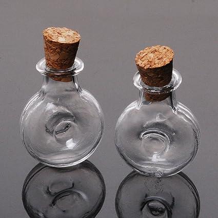 10pcs Tiny botellas de cristal pequeñas botellas de vidrio vacías pequeñas botellas al por mayor,