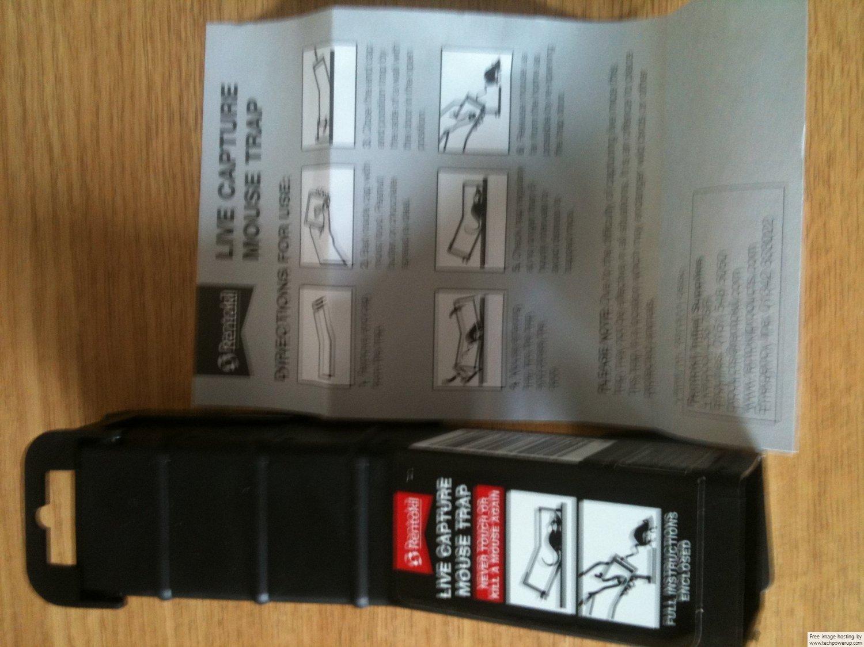 Decco Rentokil PSL88 Live Capture Single Mouse Trap Decco Ltd