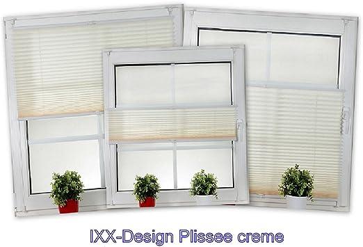 Ixx-diseño plisado, plisado pkv., estor plisado, estor plegable, Crema/beige, con tensores, aquí en la oferta 70 cm de ancho, hasta 210 cm de alto: Amazon.es: Hogar