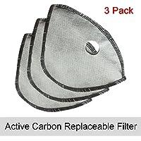 WOLFBIKE anticontaminación Ciudad Ciclismo Máscara cubre-boca polvo máscara máscara de deportes, Active Carbon Replaceable Filters-3 Pack