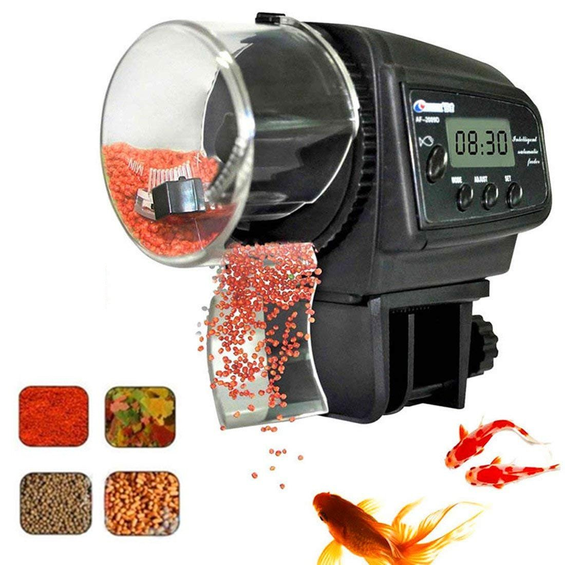 Fish Feeder, Automatic Fish Feeder, eBoTrade Aquarium Tank Auto Fish Food Timer Batteries Included 800EB by eBoTrade Dirct
