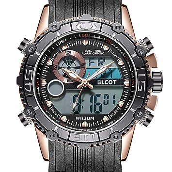 Amazon.com: blcot de los hombres reloj deportivo resistente ...