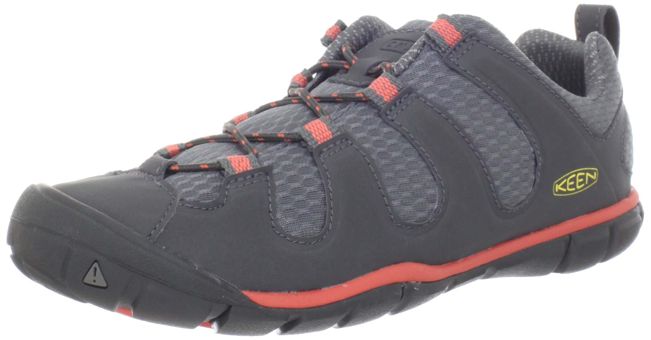 KEEN Women's Haven CNX Hiking Shoe,Gargoyle/Hot Coral,6 M US