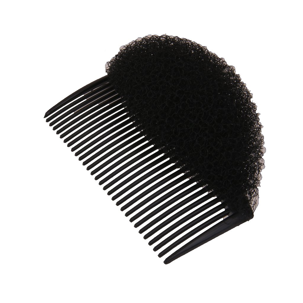 MagiDeal Fashion Hair Styler Volume Bouffant Beehive Shaper Bumpits Bump Foam W/Hair Comb - Coffee STK0155001099