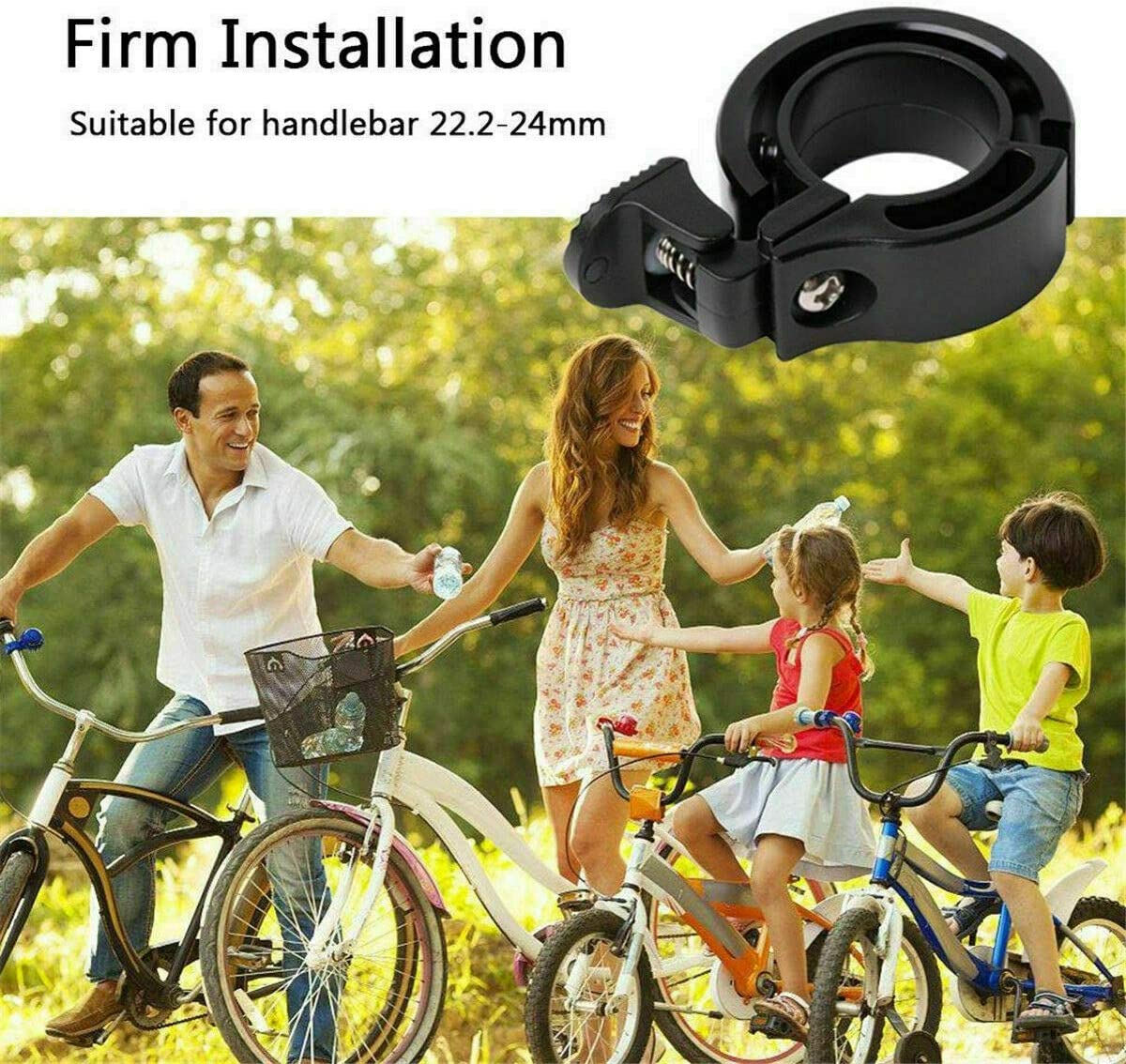 Q-Type Bike Bell 90Db Aluminum Alloy MTB//Road Bicycle Invisible Horn Alarm Ring