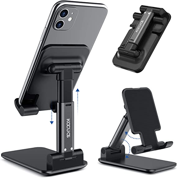 All Android Smartphone Holder Compatible with iPhone X 8 Plus 7 6 XS Max 6S 5 Accessories Desk Black Tablet Stand Cell Phone Dock 8-Pack Mobile Phone Stand