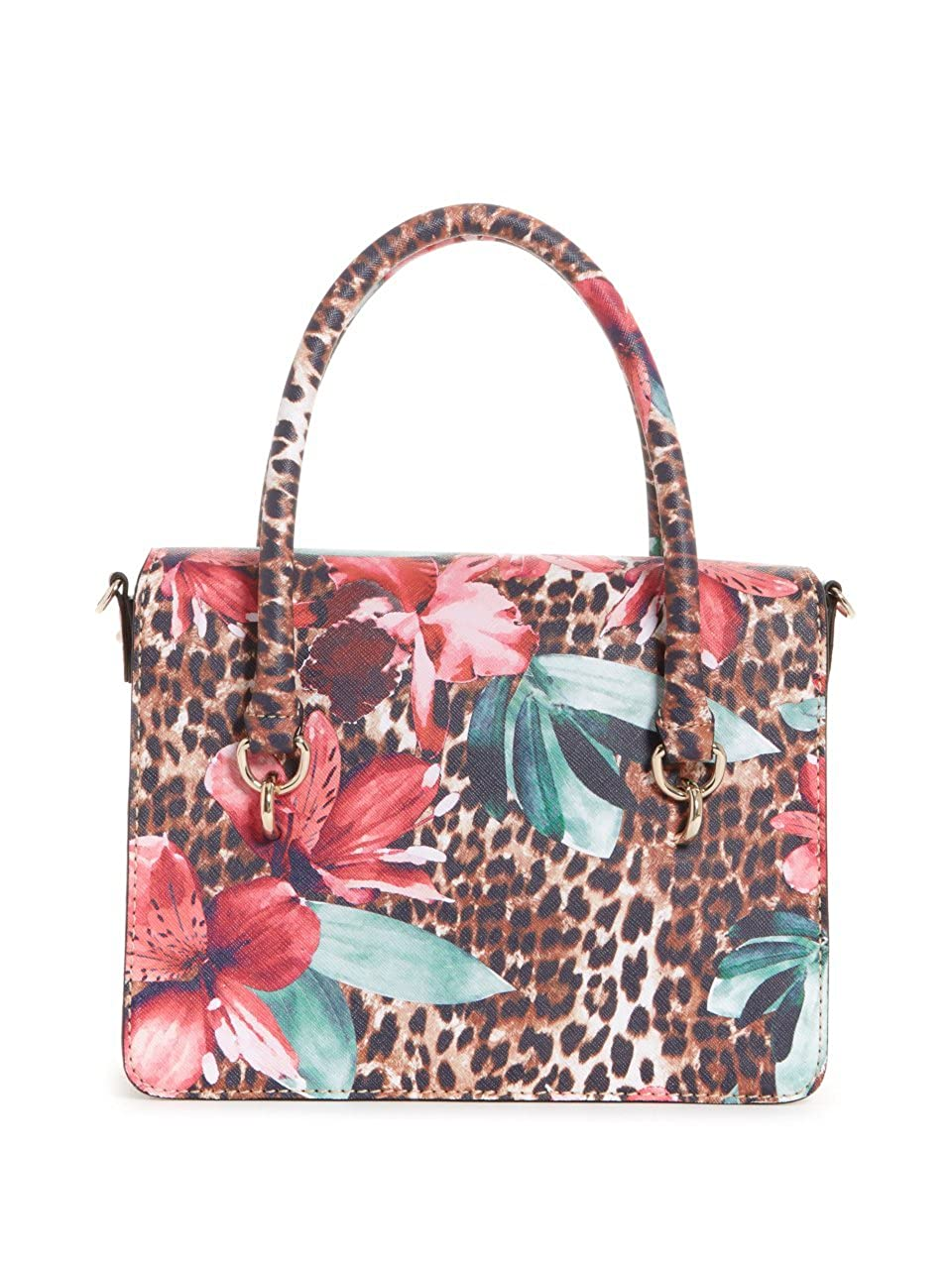 Amazon.com  GUESS Orchid Leopard Printed Satchel Crossbody Bag  Clothing 975a6f0a61ac6