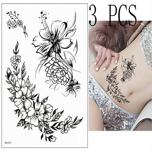 3pcs Indio Salvaje engomada del Tatuaje del Color del Tatuaje ...