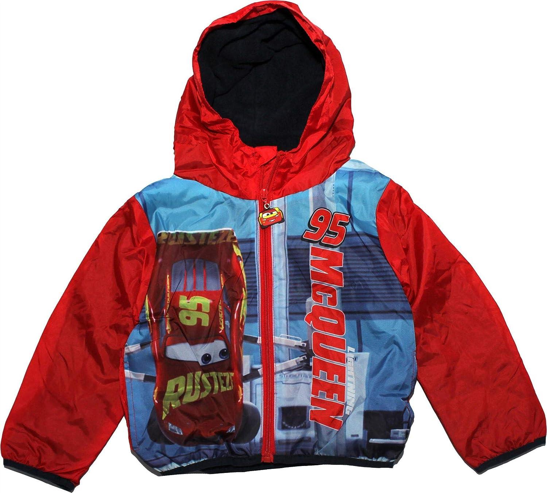 Disney Cars Boys Kids Panel Rain Coat Jacket Hood Pouch
