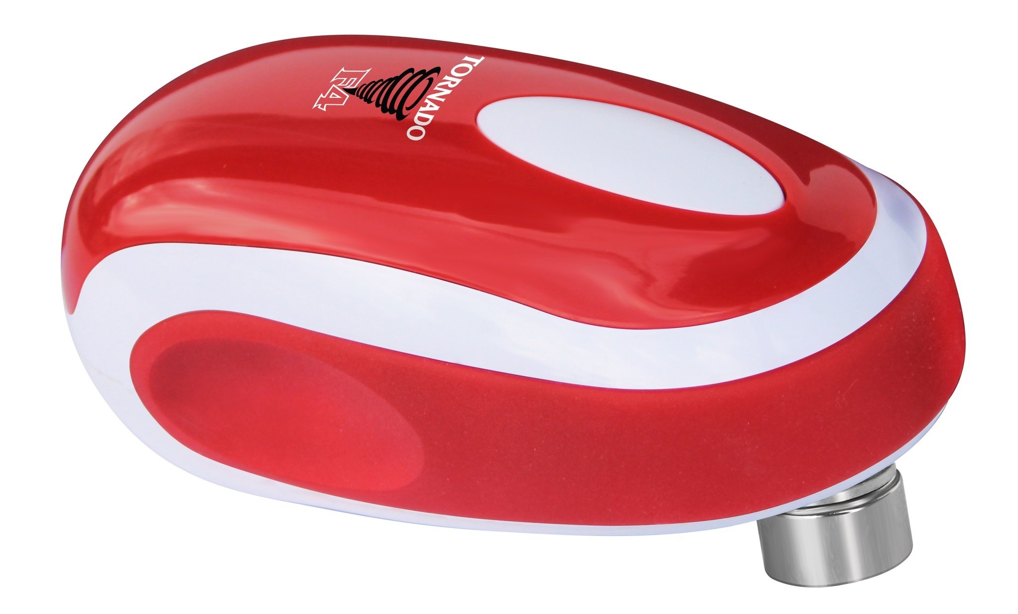 Tornado F4 Can Opener - New and Improved - Safest, fastest, Easiest Hands-Free Can Opener (Red) by Tornado Can Opener