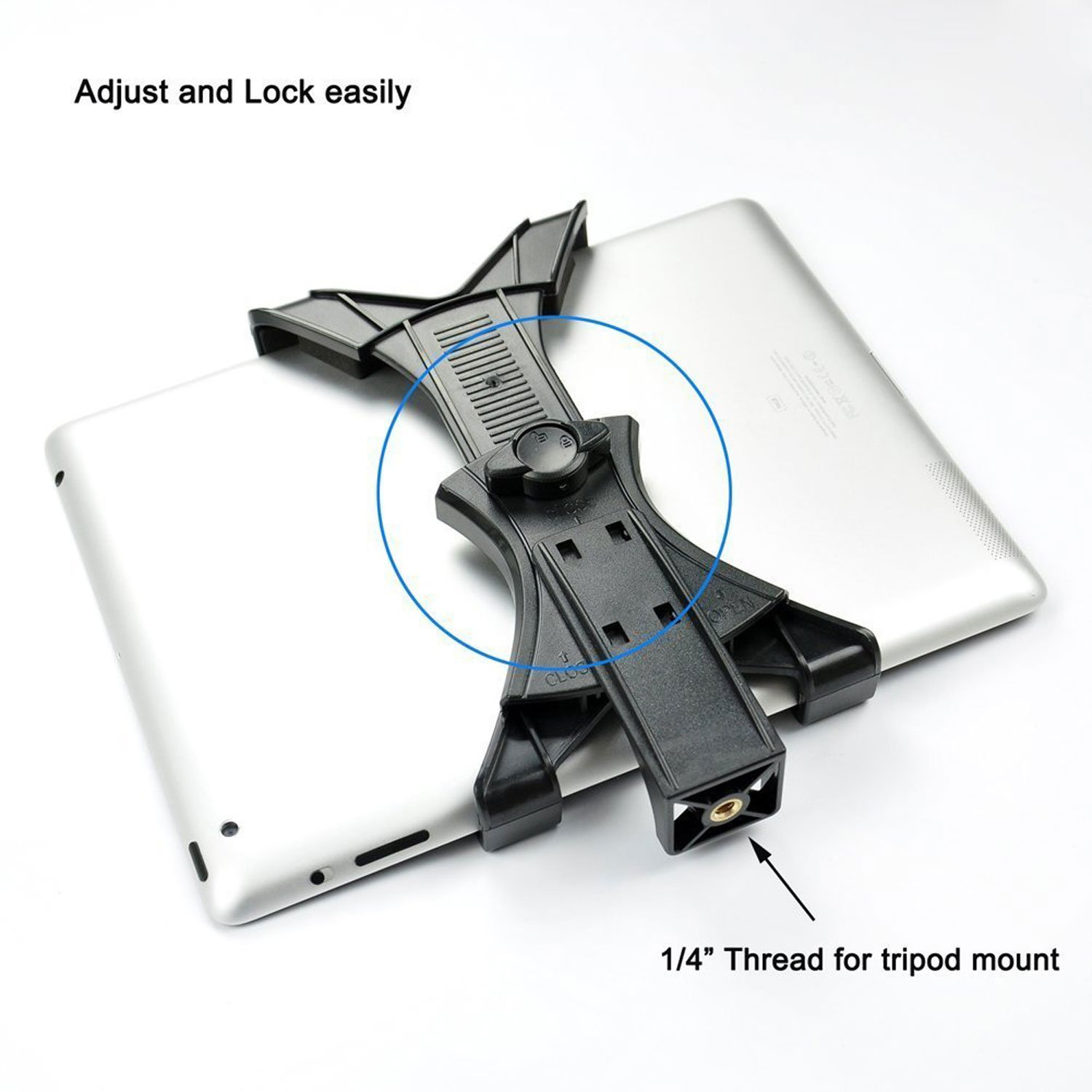 Mudder Universal Tablet Tripod Mount Adapter For Ipad Samsung Tab Re Replacing The 3 Wire Power Cord From Old Heathkit Weather Station And Other Tablets Phablets Or Smart Phones Use On Monopod Selfie Stick