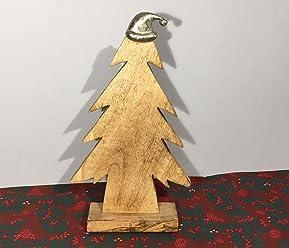 Petti Rossi Silver Stag Heavy Aluminium Christmas Ornament 22cm